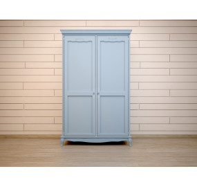 Голубой шкаф Leontina для одежды