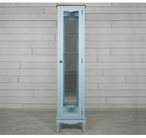 Голубой шкаф Leontina для посуды (45*190*37)
