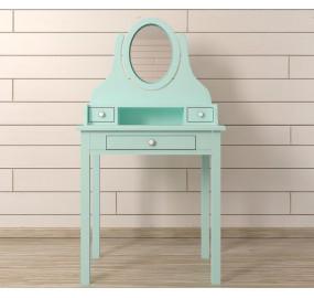 Туалетный столик с зеркалом Adelina в мятном цвете