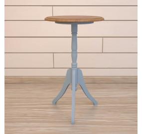 Кофейный голубой стол Leontina