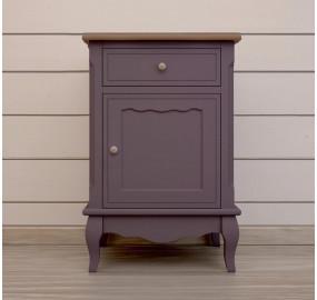 Прикроватная тумба leontina lavanda с ящиком и дверцей