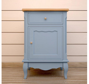 Голубая прикроватная тумба leontina (ящик с дверцой)