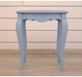 Табурет Leontina голубого цвета с мягким сиденьем