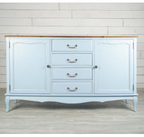 Голубой комод Leontina с дверками и ящиками