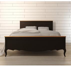 Стильная двуспальная кровать Leontina Black 160*200