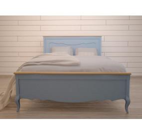 Голубая двуспальная кровать