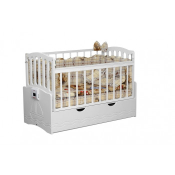 Детская автоматическая кровать Укачай-ка 03 Белая