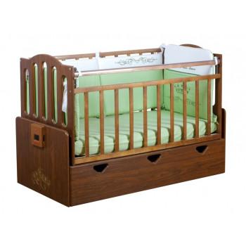 Детская автоматическая кровать Укачай-ка 03 Орех