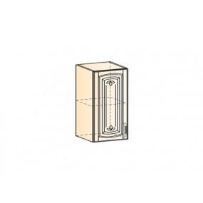 Бергамо Шкаф навесной L400 H720 (1 дв. гл.) (эмаль)