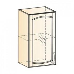 Бергамо Шкаф навесной L400 Н720 (1 дв. рам.) (эмаль)