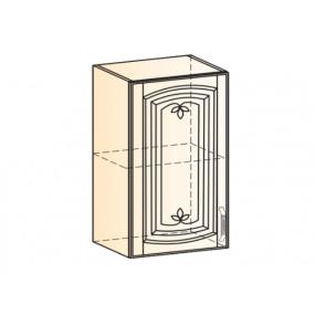Бергамо Шкаф навесной L450 H720 (1 дв. гл.) (эмаль)