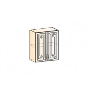 Бергамо Шкаф навесной L600 Н720 (2 дв. гл.) (эмаль)
