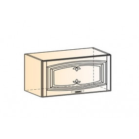Бергамо Шкаф навесной L800 Н360 (1 дв. гл.) (эмаль)