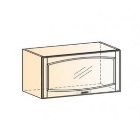 Бергамо Шкаф навесной L800 Н360 (1 дв. рам.) (эмаль)