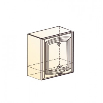 Бергамо Шкаф навесной под вытяжку L600 Н566 (1 дв. гл.) (эмаль)