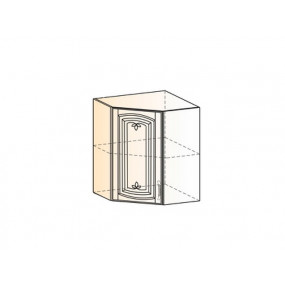 Бергамо Шкаф навесной угл. L600х600 Н720 (1 дв. гл.) (эмаль)