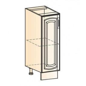 Бергамо Шкаф рабочий L200 (1 дв. гл.) (эмаль)