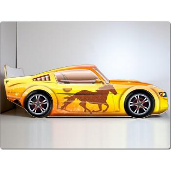 Кровать машина Мустанг (желтый)