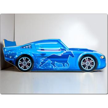 Кровать машина Мустанг (синий)