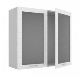 ЛД 706.856 Шкаф 800 стекло с 2 распашными дверьми Анастасия тип 3