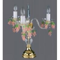Хрустальная настольная лампа ArtGlass MARKETA III WINE COLOR