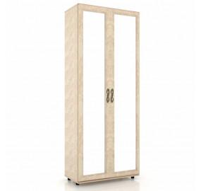 ЛД 125.020.125.001 Александрия Шкаф двухстворчатый двери с зеркалом (х2)