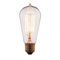 Лампа накаливания E27 60W колба прозрачная 6460-SC