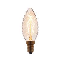 Лампа накаливания E14 40W свеча витая прозрачная 3540-LT