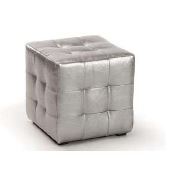 Пуфик Кубо серебро