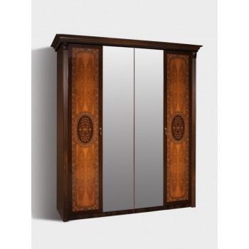 Шкаф 4-х ств. с зеркалами Карина-2