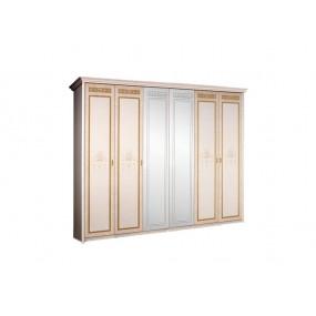 Карина-3 Шкаф 6-ти ств. для платья и белья