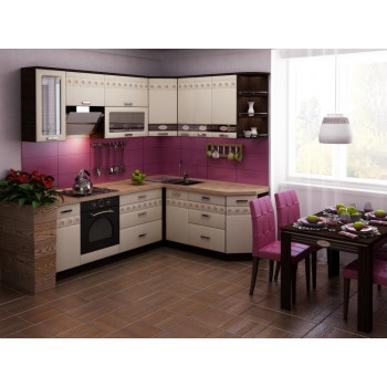 Аврора 10 Кухонный гарнитур угловой 18 (ширина 240х190 см)
