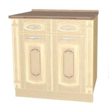03.63.2 Глория_3 Стол с 2-мя ящиками и колоннами