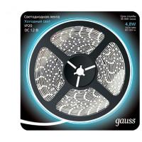 Светодиодная лента Gauss 5M холодный белый 4,8W IP20 312000305
