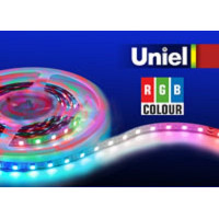 Светодиодная лента Uniel (04932) 5M RGB 72W ULS-5050-60LED/m-10mm-IP20-DC24V-14,4W/m-5M-RGB