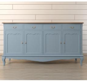 """Голубой комод """"Leontina"""" с ящиками и дверками"""