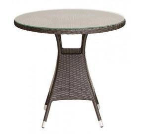 Стол обеденный со стеклом, круглый GARDA-3006 R