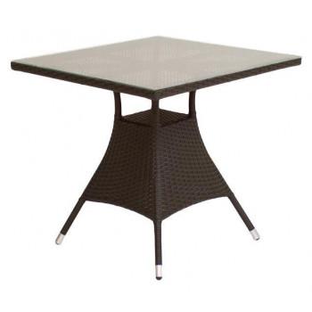 Стол обеденный со стеклом, квадратный GARDA-2007 R