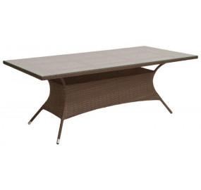 Стол обеденный со стеклом, прямоугольный GARDA-2018 R