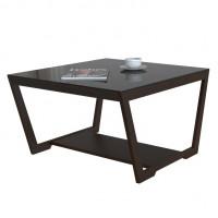 Журнальный столик Beauty Style 1 (Венге/Черное стекло)