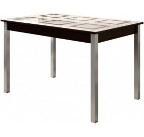 Стол обеденный со стеклом раскладной Пуэрто-1