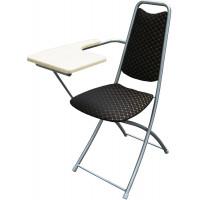 Складной стул со столиком M4-051 (столик белый клен - иск. кожа dpcv)