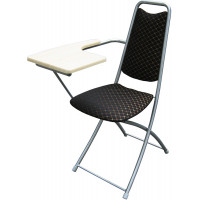 Складной стул со столиком M4-051 (столик венге - отечественная иск. кожа)
