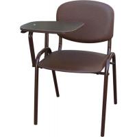 Стул офисный со столиком М36-01 (столик белый - отечественная иск. кожа)