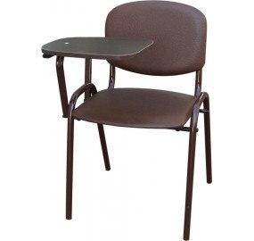 Стул офисный со столиком М36-01 (столик беленый дуб - отечественная иск. кожа)