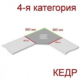 Угловая столешница КЕДР 4-я группа