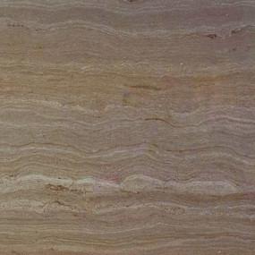 Стеновая панель для кухни КЕДР (4-я категория) - Цвет: Травертин коричневый ГЛЯНЕЦ 8343/1