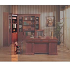 Шкаф книжный угловой Валенсия C05 Темный орех