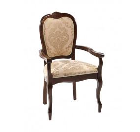 Кресло Princess PR-AC темный орех с подлокотниками