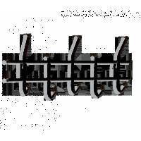 Вешалка Sheffilton Стандарт 2/5 черный/черный